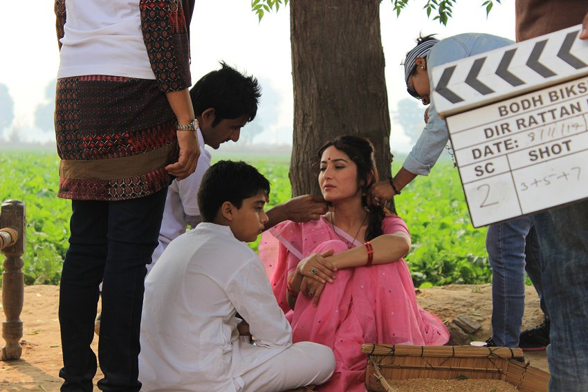 Madhu on set.